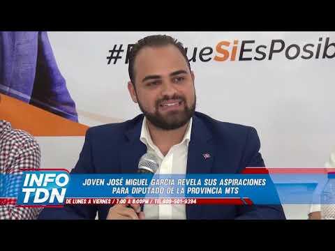 José Miguel García lanza sus aspiraciones para Diputado por la provincia MTS.
