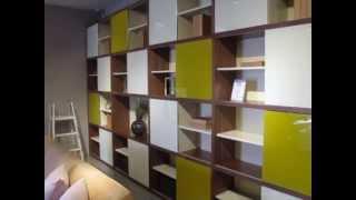 Bronte Walnut Veneer Bookase - Beyond Furniture Sydney Crows Nest Moore Park Store Australia