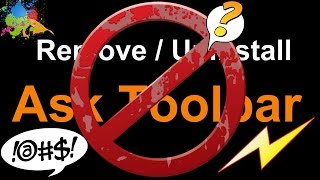 Remove Ask Toolbar And Uninstall - In Windows 8