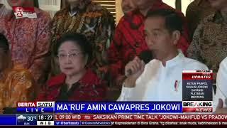 Jokowi Resmi Tunjuk Ma'ruf Amin sebagai Cawapres