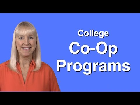 College Co-op Programs...They Work!