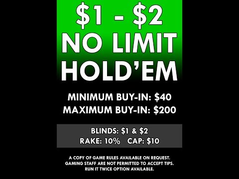 1$ - 2$ no limit Texas Holdem At the Casino Cam