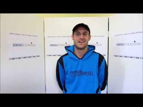 SEKISUI OPEN 2013 Interview Nicolas Mueller