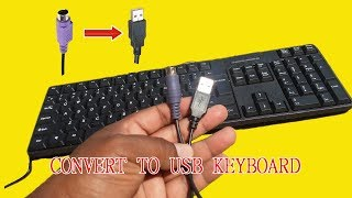 PS2 Keyboard to usb wiring | Convert to usb keyboard | keyboard repair