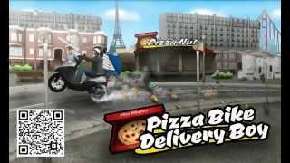 Pizza Bike Delivery Boy