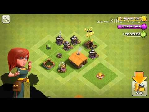 Hacked version of Clash Of Clans || unlimited gems , elixer , gold || unlimited troops