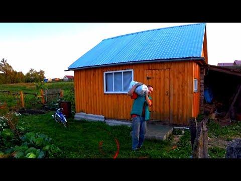 Выкопали картофель и залили фундамент, влоги-будни в деревне
