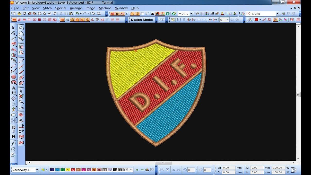 Embroidery Logo Design Youtube