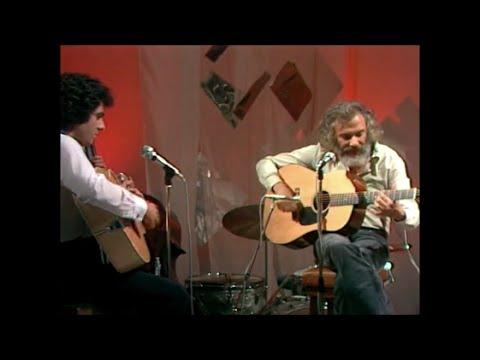 """Georges Moustaki et Enrico Macias - """"Le métèque"""" et improvisation à la guitare (live)"""