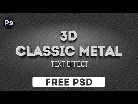 3D Металлический текст в Photoshop. Скачать бесплатно
