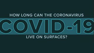 How long can the coronavirus live on surfaces?