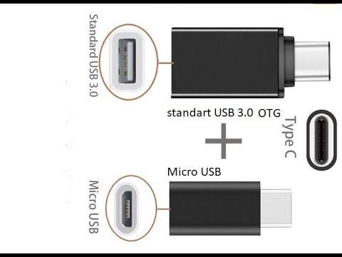 Переходники USB Type C на MicroUSB и USB 3 0 OTG