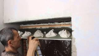 Монтаж откоса из гипсокартона на входных дверях.(Откос на входные двери своими руками..Как сделать откос., 2014-04-23T22:40:00.000Z)