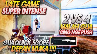 2 VS 4 MALAH GUA YANG NGEPUSH !! AUTO QUICK SCOPE DEPAN MUKA !! Ryan Prakasha PUBG Mobile