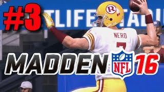 Madden 16 Career Mode - Part 3 - First Away Game! (Redskins at Giants, Week 3) [Xbox One]