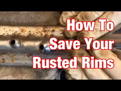 How To Clean Rusted Chrome Rims Cheap-Vintage Motorcycle Restoration Project: Part 57