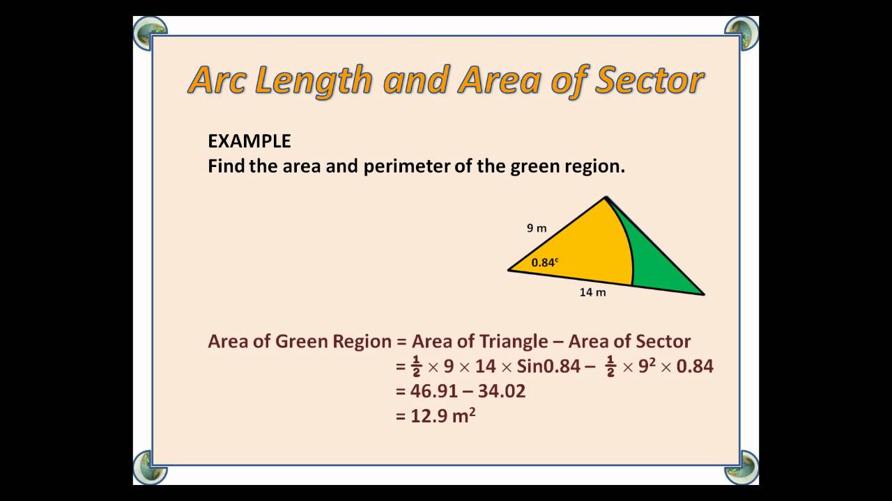 C2 arc length and area of sector youtube c2 arc length and area of sector ccuart Gallery