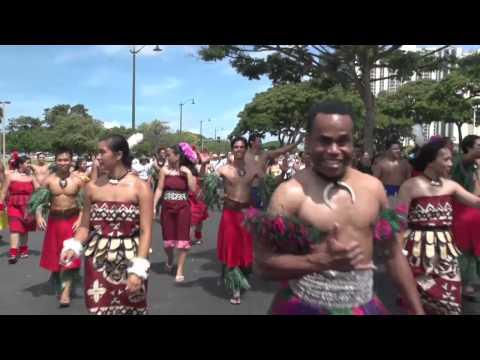 Hawaii Parade featuring Polynesian Cultural Center dancers