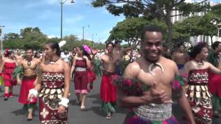 Hawaii Parade featuring Polynesian Cultural Center dancers