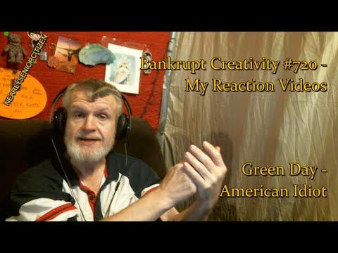 Green Day - American Idiot : Bankrupt Creativity #720 - My Reaction Videos