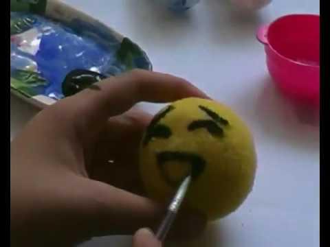 Diy Emoji Stress Ball Tennis Ball Youtube