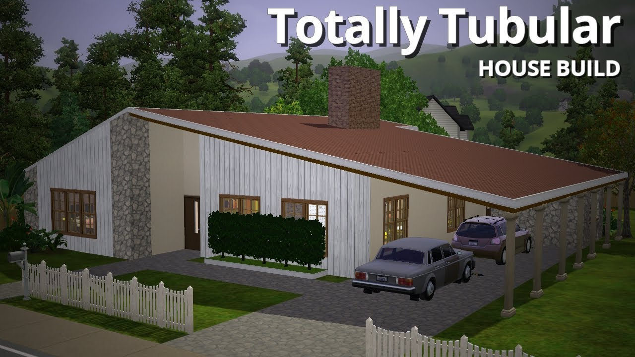 The sims 3 house building totally tubular 1970s house for Classic house sims 3
