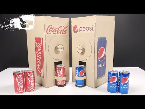 How to Make Coca Cola and Pepsi Vending Machine