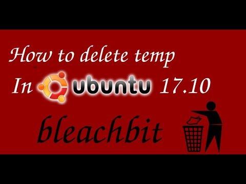 How to delete temp file in ubuntu 17.10