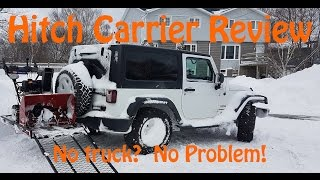 """51""""x30"""" Hitch carrier with ramp review (Princess Auto)"""