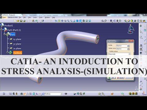 Catia - An Introduction To Stress Analysis - (Simulation)