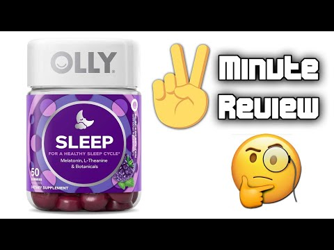 2 Minute Review Olly Sleep Vitamin Gummies Youtube
