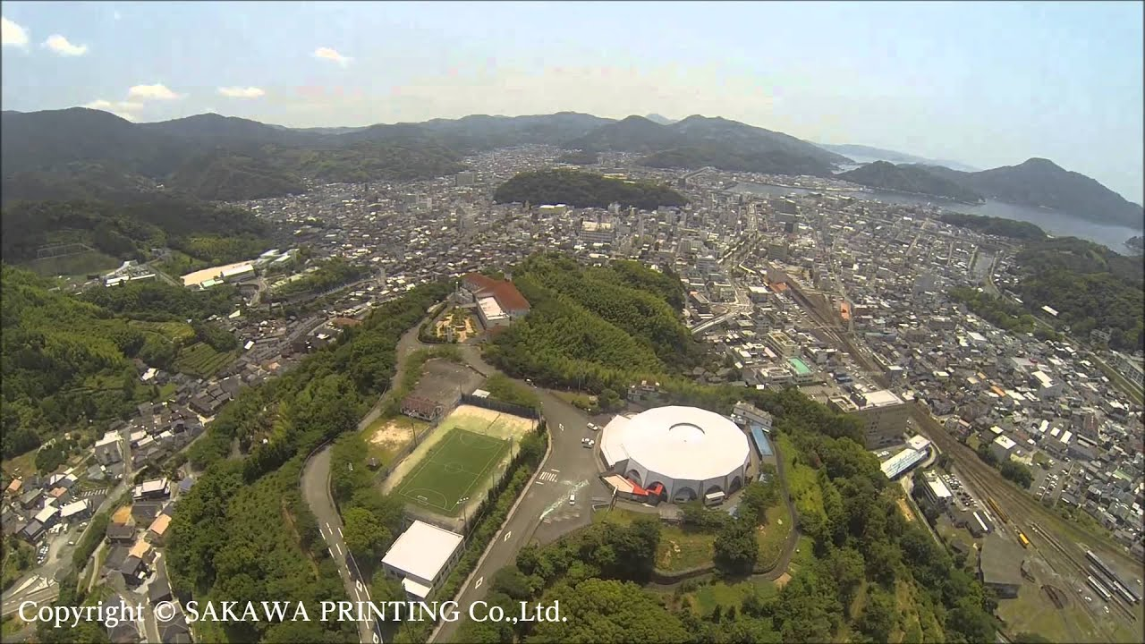 Drone in Japan Uwajima city 宇和島市 市内空撮 愛媛 ドローンposted by Platho3