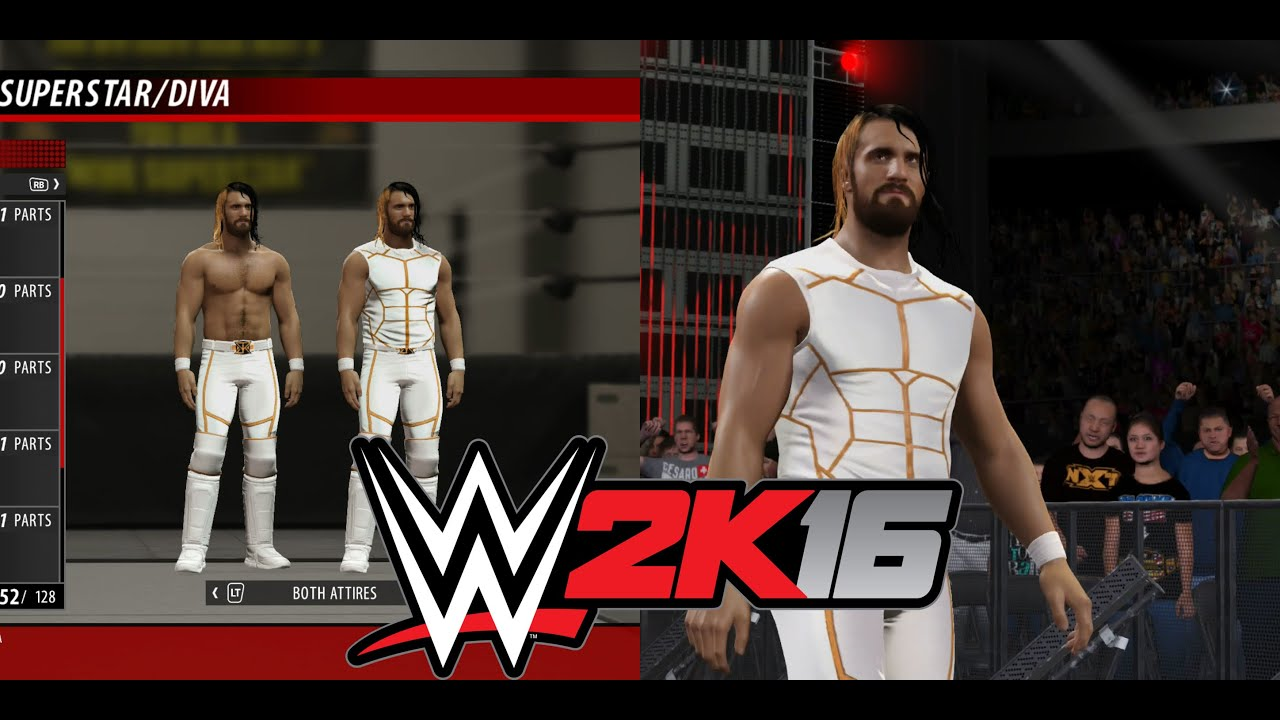65e22b0365 WWE 2K16 Seth Rollins White   Gold Attire w  Gameplay - YouTube