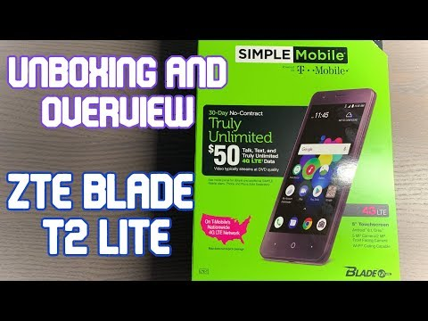 $20 Smartphone!?! Unboxing/Overview of the ZTE Blade T2 Lite - Part 1