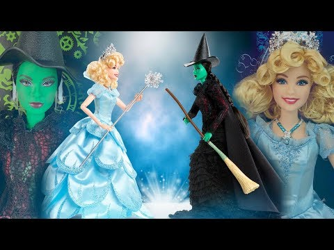 Elphaba & Glinda Barbie dolls from the Musical WICKED (Review)