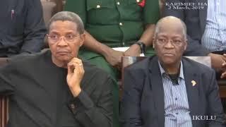 Rais Magufuli na Mstaafu Kikwete msibani kwa Ruge Mutahaba
