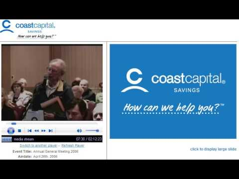 Coast Capital Savings 2006 Annual General Meeting