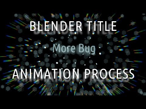 Blender Title Animation Process