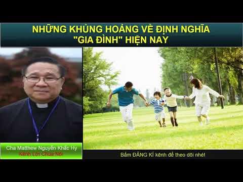 NHỮNG KHỦNG HOẢNG TRONG ĐỊNH NGHĨA VỀ GIA ĐÌNH HIỆN NAY Bài giảng công giáo Cha Nguyễn Khắc Hy