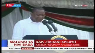 President Uhuru speech on healthcare in Kenya during the Universal Healthcare launch in Kisumu