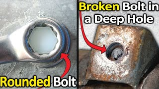 Download How to Remove a Rounded Bolt or a Broken Bolt in a deep hole Mp3 and Videos