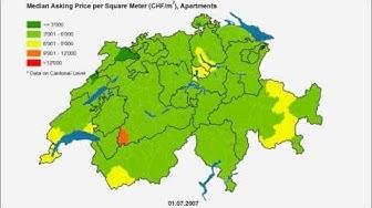 comparis.ch: Immobilienpreisentwicklung Schweiz Wohnungen 2005 - 2015