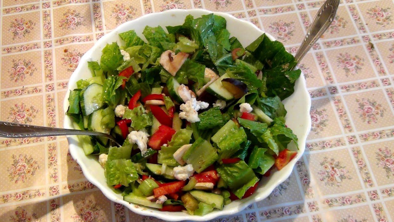 Салат из сырой цветной капусты и брокколи