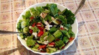 Витаминный Салат из Цветной Капусты и Грибов