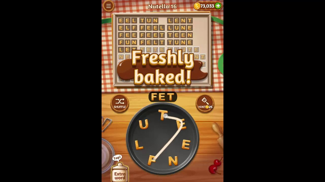 Word Cookies Nutella Pack Level 16 Answers - YouTube