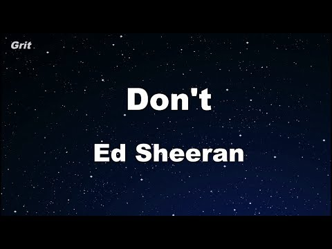 Don't - Ed Sheeran Karaoke 【With Guide Melody】 Instrumental