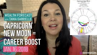 Capricorn New Moon Wealth Forecast = Career Boost! (Jan 16, 2018)