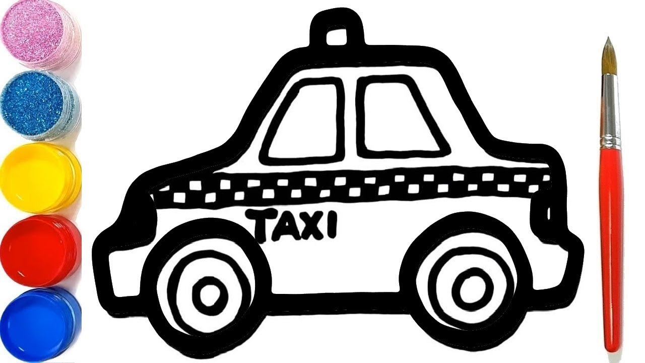 Dessine Le Taxi Pour Bebe Comment Dessiner Et Colorier Pour Les Enfants Youtube