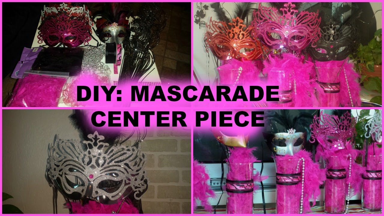 Diy How To Make A Masquerade Centerpiece Youtube