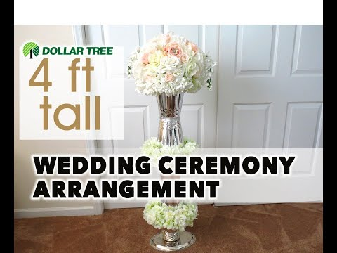 DIY Wedding Ceremony Aisle Pedestal Centerpiece 4 Ft - Dollar Tree - Wedding Series